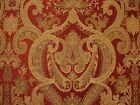 Kings Collection Luxury Designer Plush Damask Chenille Upholstery Curtain Fabric