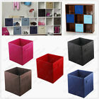 Storage Cube Fabric Clothes Foldable Folding Box Books Organizer Home Room 6Pcs