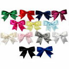 Large Satin Ribbon Double Bows 8cm Wide - Colour Choice