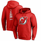 Fanatics Branded Taylor Hall New Jersey Devils Red Backer Pullover Hoodie NHL