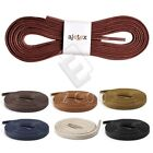 Unisex 1 Pair Flat Waxed Shoelaces Leather Shoes Oxford Canvas Laces 120cm CA