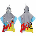 Nifty Kids Soft Cotton Shark Hooded Poncho Towel Childrens Bath & Beach Wear