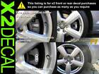 Brake Caliper Decal sticker for Audi Quattro rings x2 front or rear