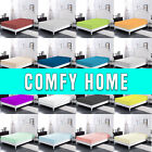 Comfy Home 100% Cotton Solid Color Fitted Sheet  All Seasons -Deep Pocket Spring image