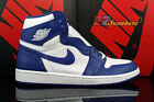 AIR JORDAN 1 ONE RETRO HIGH OG WHITE STORM BLUE 555088-127 NEW MENS SIZE 13
