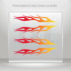 Decals Decal Set Of 4 Flames Red Orange Yellow Vehicle st5 ZE262