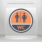 señalizacion aseos - Decals Decal Wc Restroom Aseos Sign Toilet Bathroom Lavatory st5 XX652