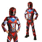Rubies Boys Official Deluxe Red Power Ranger Movie Childs Fancy Dress Costume