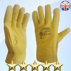 5 Pairs Lorry Drivers Work Gloves Fleece Cotton Lined Leather DIY Quality