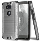 For Huawei Sensa Shockproof Tough Brushed Armor TPU Case +Tempered Glass Screen