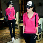 2016 autumn new female casual sports suit women large size cotton hooded sweater