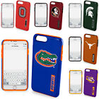 Official NCAA Shockproof Impact Resistant Cover Case for iPhone + Tempered Glass