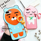 3D cute Kakao Friends RYAN APEACH Finger Ring case cover for iPhone 8 7 6S Plus
