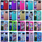 Armor Hybrid Silicone ShockProof Case for Samsung Galaxy S7 & S7 Edge Rhinestone
