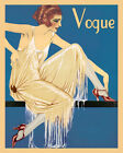 paper shoe template free - Fashion Lady Girl with Fine Shoes American Chic 16 X 20 Vintage Poster FREE S/H