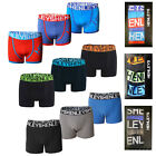 Henleys Mens 3 Pack Boxer Shorts Boxed Designer Underwear Jersey Stretch Trunks