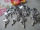 20 x Flamingo Birds,Silver Tibetan Metal Charms,Pendant,Jewellery Making