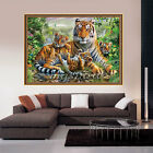 Animal Tiger DIY 5D Embroidery Diamond Sticker Cross Stitch Painting Home Decor