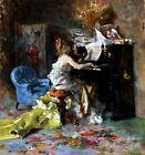Women at a Piano Painting by Giovanni Boldini Art Reproduction