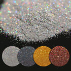7g Holographic Laser Glitter Powder Nail Art Shining Gold Silver Black Coffee