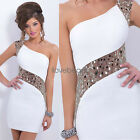 Womens Bridesmaid Sequins Dress Sexy Off Shoulder Evening Party Bodycon Dresses