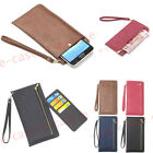 Multifunction Handbag Zipper Wallet Holder Cards Pouch Pocket Leather Case Cover