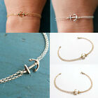 Fashion Women's Stainless Steel Anchor Chain Cuff Bangle Bracelets Jewelry Gift