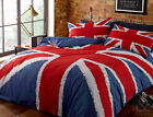 Union Jack Duvet Cover - Cotton Rich White, Blue & Red Bedding Printed Bed Set