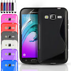 S-Line Gel Case Cover & Screen Protector For Samsung Galaxy J3 (2016)