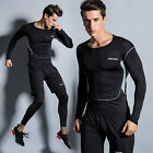 NEW! Men Fitness Trainning Tops+pants+Short Quick-dry Breathable Gym Outfit