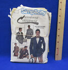 Simplicity Mens Single Or Double Breasted Jacket Sewing Pattern Size 42 Vintage