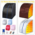 2L Home Infrared & Steam Sauna Spa Full Body Slimming Loss Weight Detox Therapy