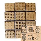 *4 For 3* Alphabet Mini Rubber Stamps Letters wooden set of 30 from Dovecraft