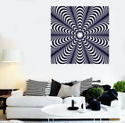 white stripe wall decals - Vinyl Decal Wall Sticker Optical Illusoin Black White Striped Background (n665)