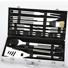 HIG 4-18 Piece Barbecue BBQ Grill Tool Stainless Steel Utensils Set Storage Case
