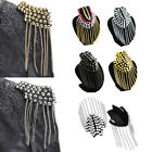 Men Women Suit Rivet Epaulet Tassel Fashion Accessory Gothic Punk Rock Shoulder