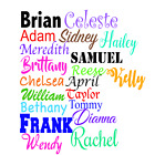 Name Decal, Your Name Personalized, Word Stickers, Letters Customized Tumbler