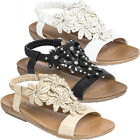 WOMENS LADIES FLAT LOW WEDGE SUMMER BEACH FASHION SANDLES SHOES SIZES 3-8