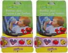 No-Throw Sesame Street Bottle & Sippy Cup Tether - Pink, Green, & Blue Colors