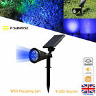 Solar LED Spot Lights Wall Lights Garden Lights Outdoor Waterproof Yard Lamps UK