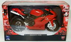 NEWRAY 44023A  57143 DUCATI MONSTER / 1198 diecast model bikes red & black 1:12