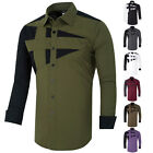 Kyпить USPS SHIPPING Fashion Men's Casual Shirts Slim Fit Long Sleeve Dress Shirts Tops на еВаy.соm
