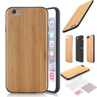 Handmade Natural Wood Wooden Bamboo Hard Case Thin Cover For iPhone 7/6S 6 /Plus