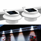 4X 2X Solar-Powered Automatic LED Mounted Gutter Night Light Roof Outdoor Yard