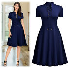 MIUSOL Women's Vintage Cocktail Party Casual Business Work A-line Pleated Dress