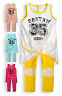 Girls Legging Set New Kids Crochet Sleeveless Summer Vest Outfit Ages 2-12 Years