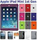 Amzer Silicone Skin Fit Jelly Case TPU Hybrid Screen Protector For iPad Mini 1st