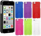 AMZER Slim Shell Hard Snap On Case Kickstand Protective Cover For iPhone 5C 5 C