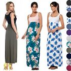 Glamour Empire Women's Maxi Dress Sleeveless Flared Skirt with Empire Waist. 292