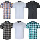 Mens ex Next Cotton Short Sleeve Shirt Checked Pinstripe Print Top RRP £25 S-XXL